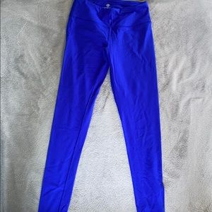 cobalt blue full length leggings